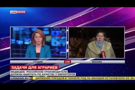 Ольга Башмачникова в Life News: меры Правительства по поддержке АПК
